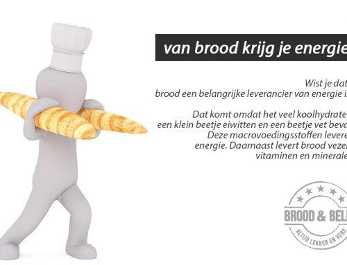 Van brood krijg je energie!