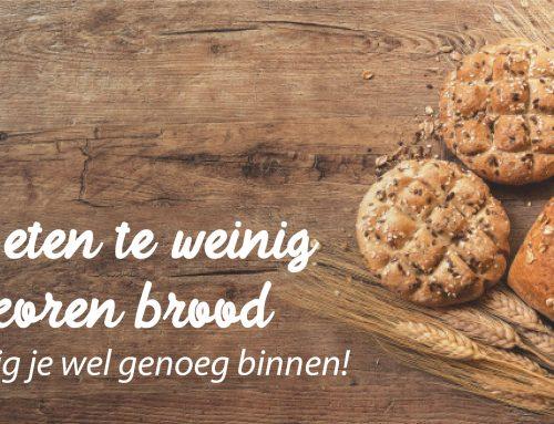 We eten te weinig volkoren brood; zo krijg je wel genoeg binnen!