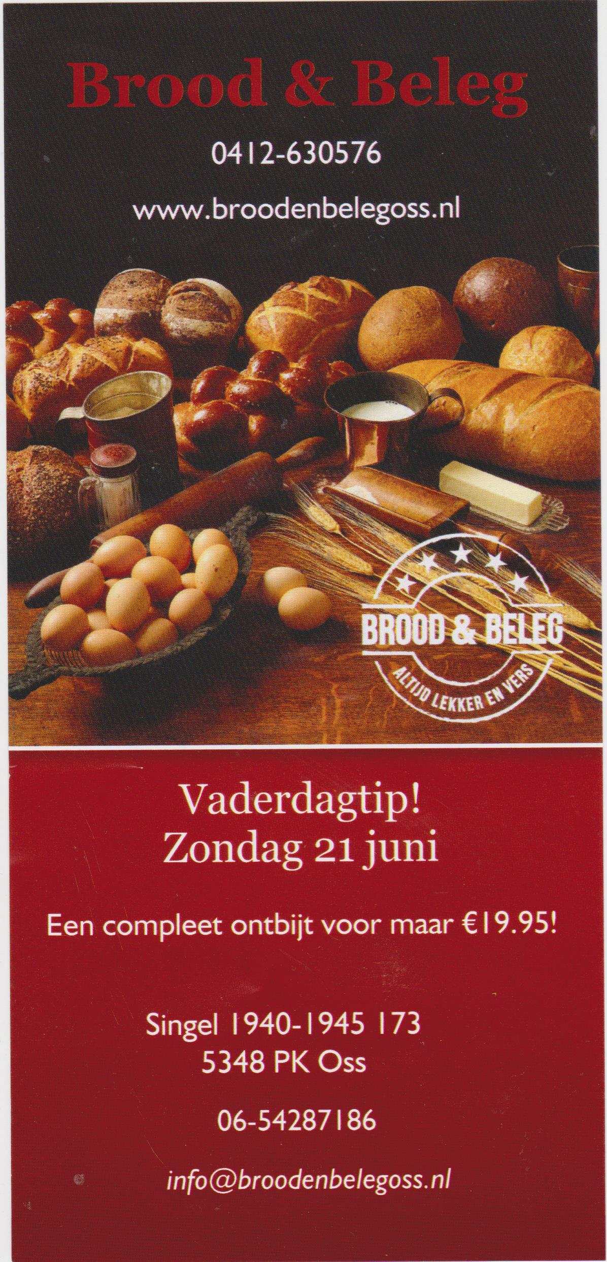 Vaderdag ontbijt Brood & Beleg
